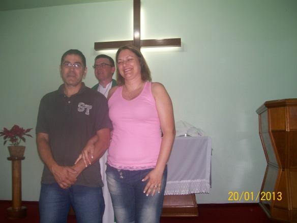 O casal Leomar e Janete Rodrigues comemoram 25 anos de casamento