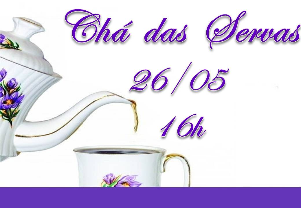 Convite Para Cha Das Servas 2013 Igreja Luterana Cel Ss Trindade