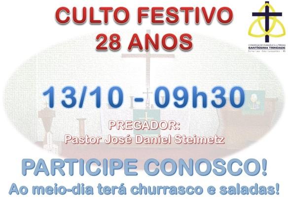 celst - convite - culto 28 anos