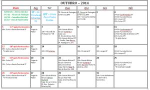 Calendario out 2014