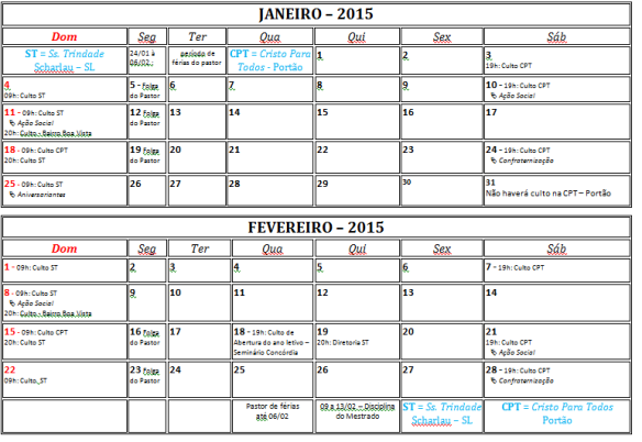 Ja e Fev 2015